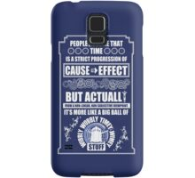 Doctor Who - Blink - People assume that time is a strict progression of cause to effect Samsung Galaxy Case/Skin