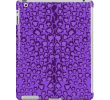 Cats Head Leopard Print in Purple iPad Case/Skin
