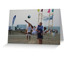 Sand Soccer Tournament Greeting Card