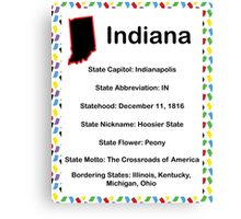 Indiana Informational Educational Canvas Print