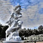 Garden statue at Sanssouci palace In Potzdam Germany by pdsfotoart
