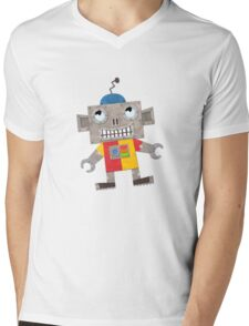Norty Robot Mens V-Neck T-Shirt