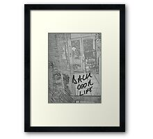 Back Door Life Framed Print
