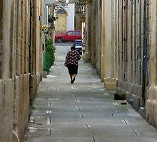 Village street by M G  Pettett