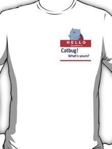 Catbug Name tag T-Shirt