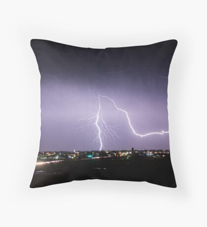 City Lightning Intersection Throw Pillow
