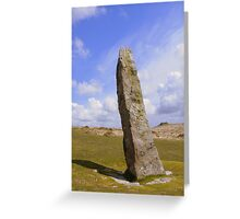 Dartmoor: The Longstone on Shovel Down Greeting Card