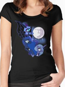 3 Luna Moon Women's Fitted Scoop T-Shirt