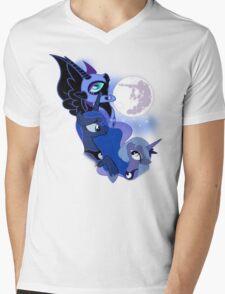 3 Luna Moon Mens V-Neck T-Shirt