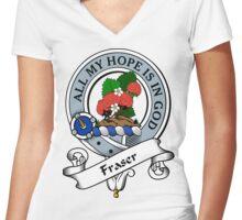 00049 Fraser Clan/Family (1745) Women's Fitted V-Neck T-Shirt