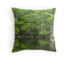 Green at the Creek Throw Pillow