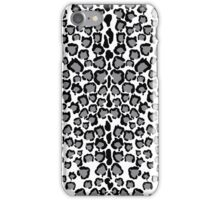 Cats Head Snow Leopard Print in Grey iPhone Case/Skin