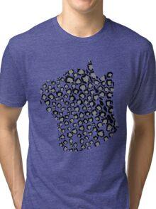Cats Head Snow Leopard Print in Grey Tri-blend T-Shirt