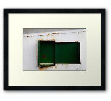Green & White Framed Print