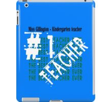 Number one kindergarten teacher geek funny nerd iPad Case/Skin