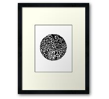 Black and white abstract circle Framed Print