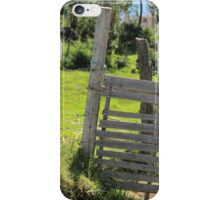 Wood Gate on a Farm iPhone Case/Skin