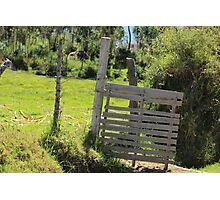 Wood Gate on a Farm Photographic Print