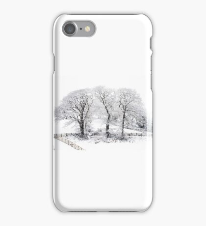 Three Snowy Trees iPhone Case/Skin