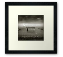 .bench II. Framed Print