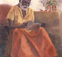 Dr. Pillai reading Osho by vishvakarma