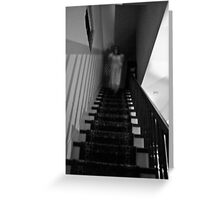 Lady in White Descending Greeting Card