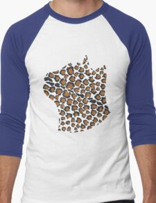 Cats Head Leopard Print Men's Baseball ¾ T-Shirt