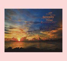 Serenity Prayer Sunset By Sharon Cummings Kids Tee