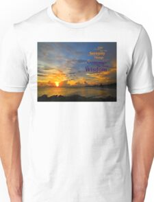 Serenity Prayer Sunset By Sharon Cummings Unisex T-Shirt