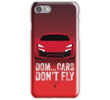 Cinema Obscura Series - The Fast & the Furious - Cars Don't Fly iPhone Case/Skin
