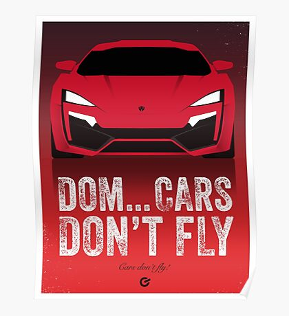 Cinema Obscura Series - The Fast & the Furious - Cars Don't Fly Poster