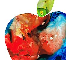 An Apple A Day - Colorful Fruit Art By Sharon Cummings  by Sharon Cummings