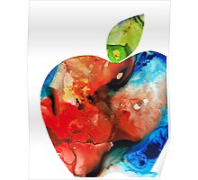 An Apple A Day - Colorful Fruit Art By Sharon Cummings  Poster