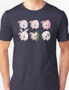 Poogie Piggie Monster Hunter Print all 6  T-Shirt