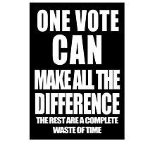 One Vote (Negative) Photographic Print