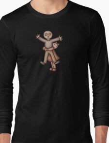 Funny Cartoon Couple Girl Hugging Boy Long Sleeve T-Shirt