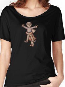 Funny Cartoon Couple Girl Hugging Boy Women's Relaxed Fit T-Shirt