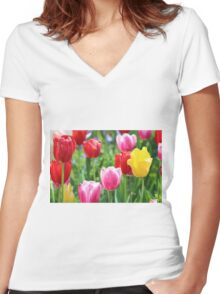 Pick A Color Women's Fitted V-Neck T-Shirt