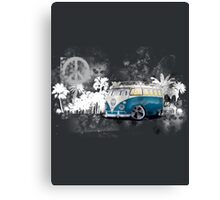 Splitty Grunge (W) Canvas Print
