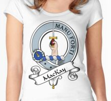 00063 MacKay or Green MacKay - (Logan) Clan/Family Tartan  Women's Fitted Scoop T-Shirt