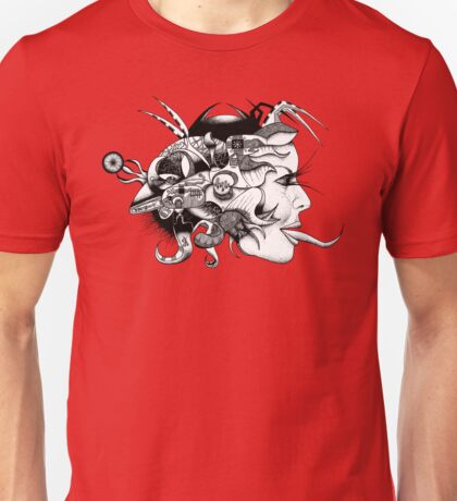 Toungue Twisted Android Girl Unisex T-Shirt