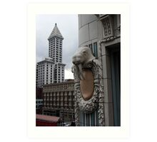 Smith Tower with Walrus Art Print