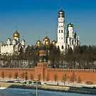 Moscow Kremlin churches by Igor Sinitsyn