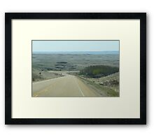 Coming Into The Badlands by Drumheller Alberta Framed Print