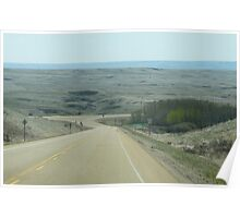 Coming Into The Badlands by Drumheller Alberta Poster