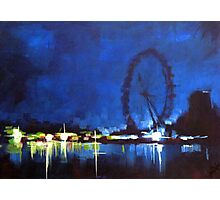 Painting: london Eye  Photographic Print