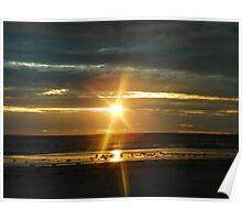 Sunset at Glenelg Beach, South Australia Poster