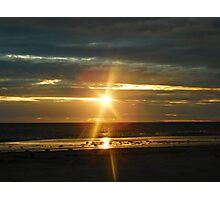 Sunset at Glenelg Beach, South Australia Photographic Print