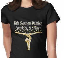 DAZZLING GOLD GYMNASTICS DESIGN Womens Fitted T-Shirt