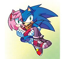 Sonic Boom - Sonic & Amy Rose Photographic Print